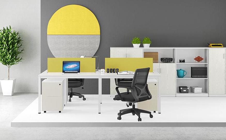 现代时尚简约四人位职员办公桌