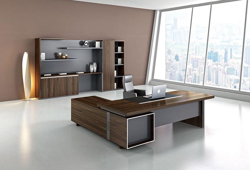 浙美现代简约办公大班台板材桌厂家直供
