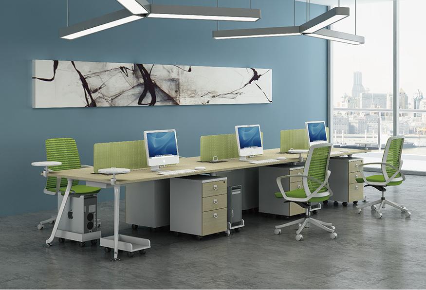 浙美简约办公屏风电脑桌职员桌自由组合可定制