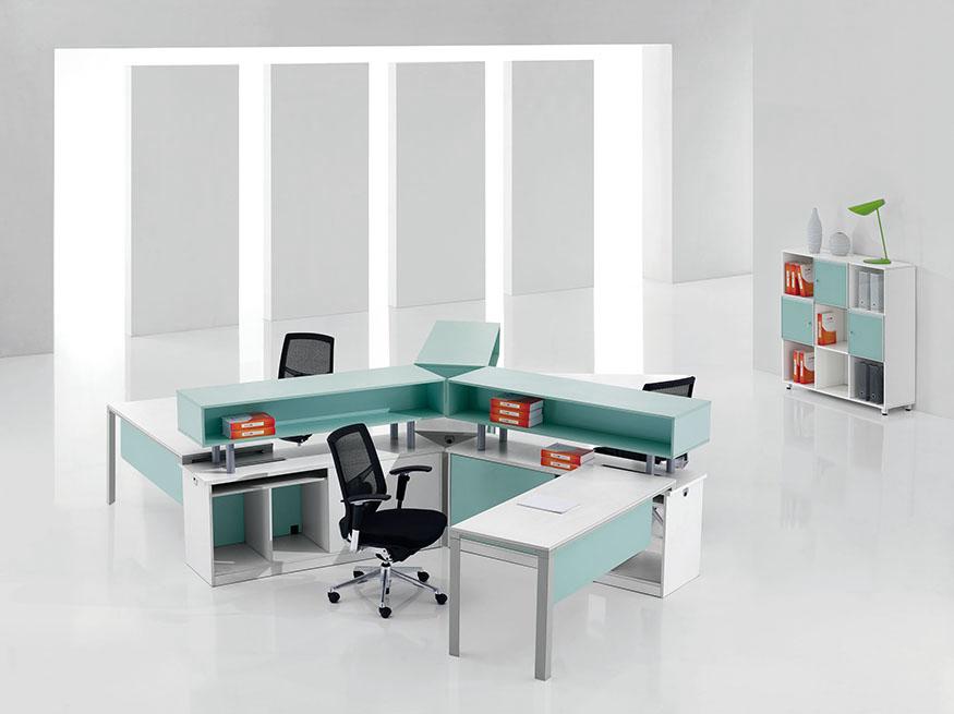 浙美简约办公屏风自由组合可定制办公家具