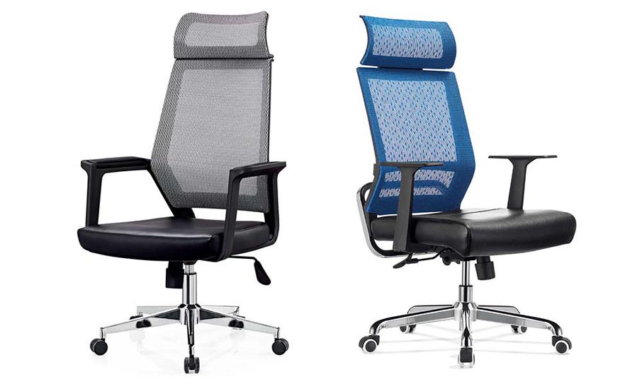 智能腰部支撑人体工学网布椅