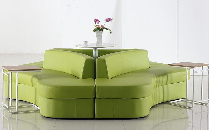 简约时尚弧形布艺沙发组合
