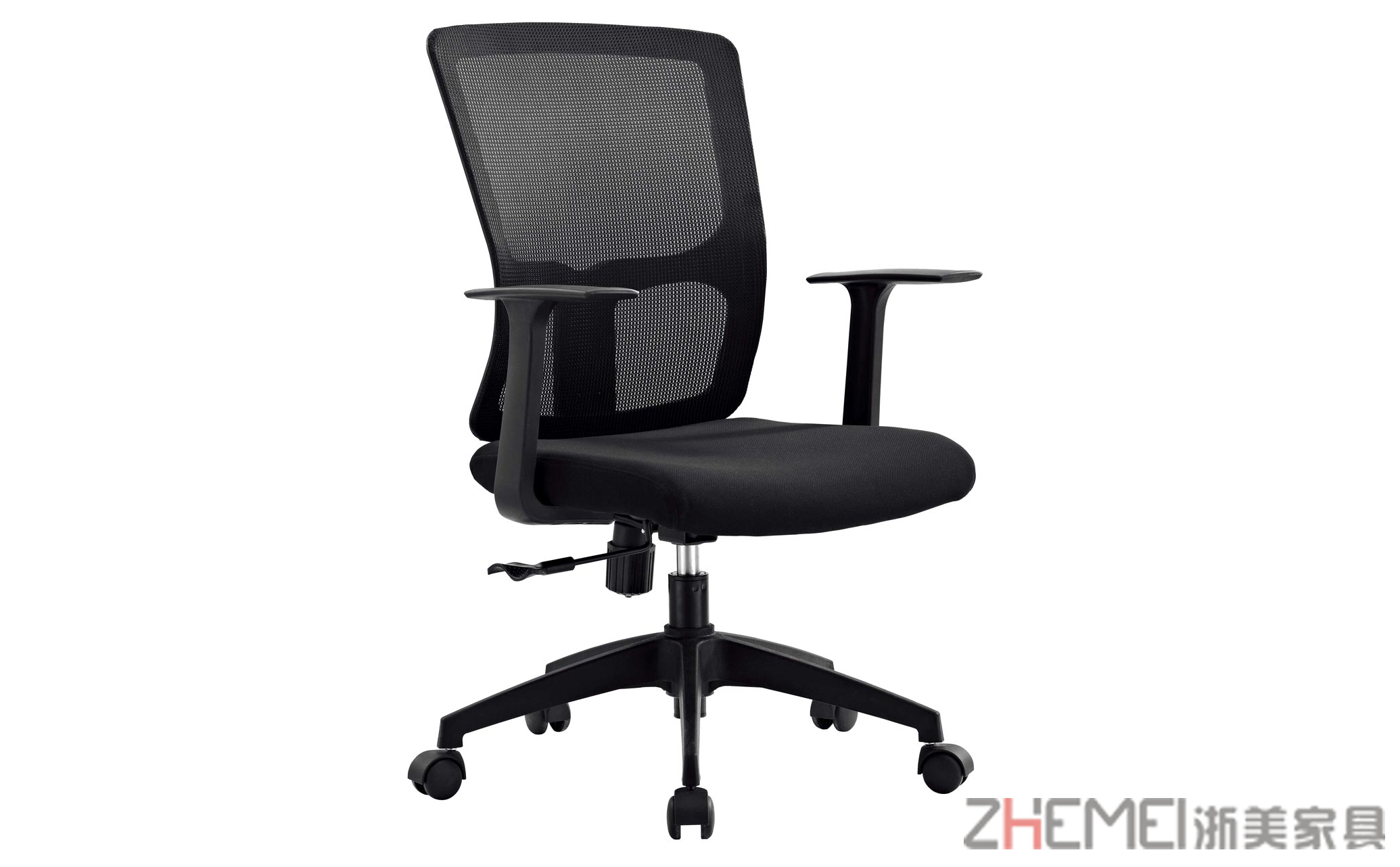 现代简约  舒适可旋转可升降中班会议椅B025