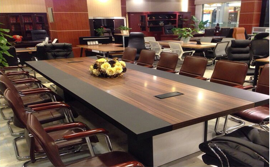 环保无味大型实木油漆会议桌