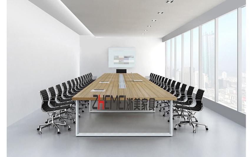 浙美办公家具时尚简约会议桌板式现代组合培训桌洽谈桌接待台