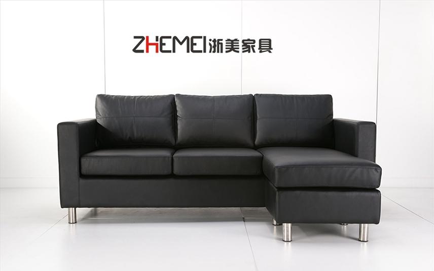 浙美办公家具简约商务布艺办公沙发接待区休息区沙发