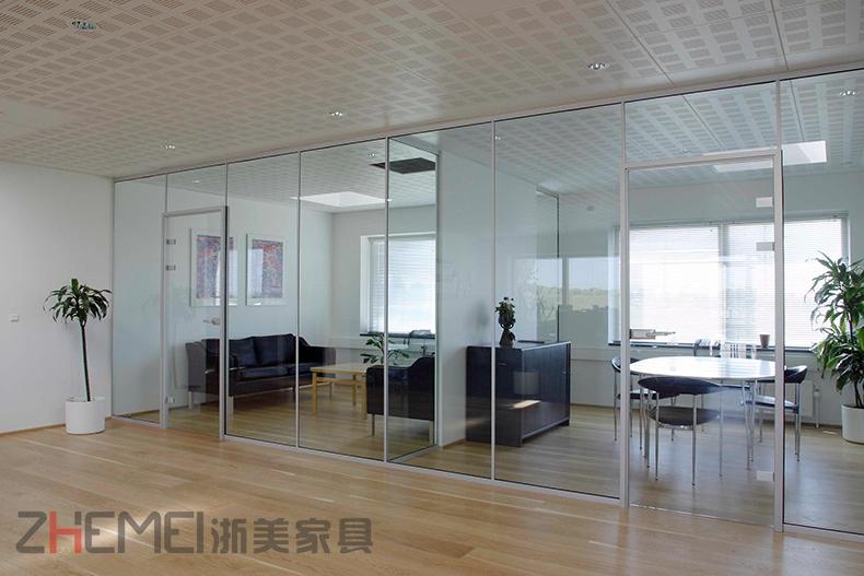 浙美高隔间办公室玻璃百叶隔断墙高隔间会议办公GH3