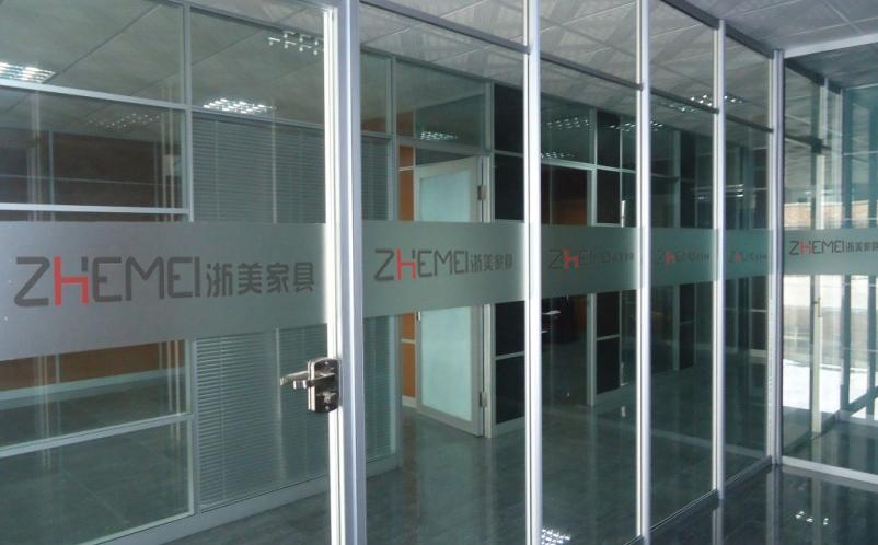 浙美隔板间屏风钢化玻璃高隔断办公室GD1