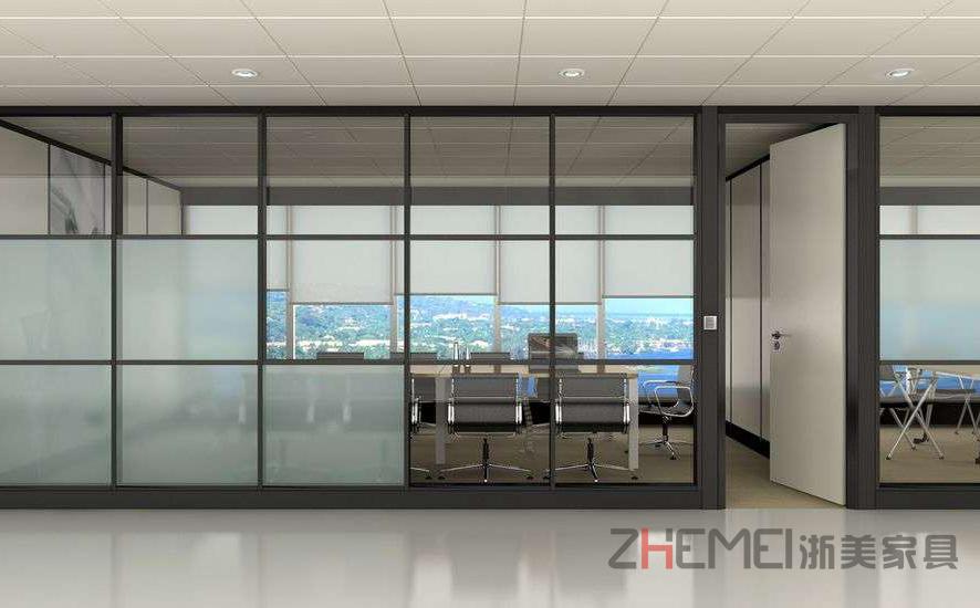 浙美隔板间屏风钢化玻璃高隔断办公室gd1图片