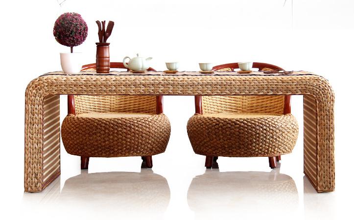 浙美家具 藤艺创意茶几藤条手工草编织沙发组合