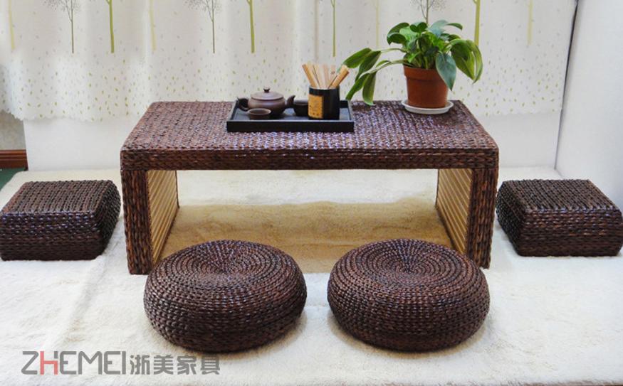 浙美家具 编藤茶几手工藤条编织沙发组合