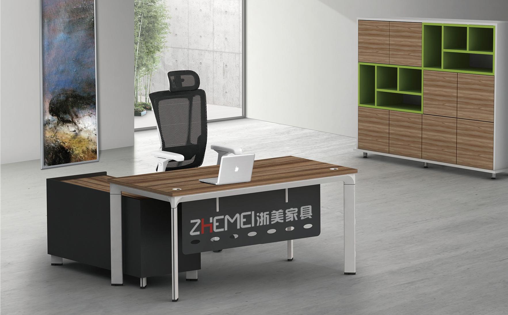 时尚自由 浙美办公室大班台、经理办公桌