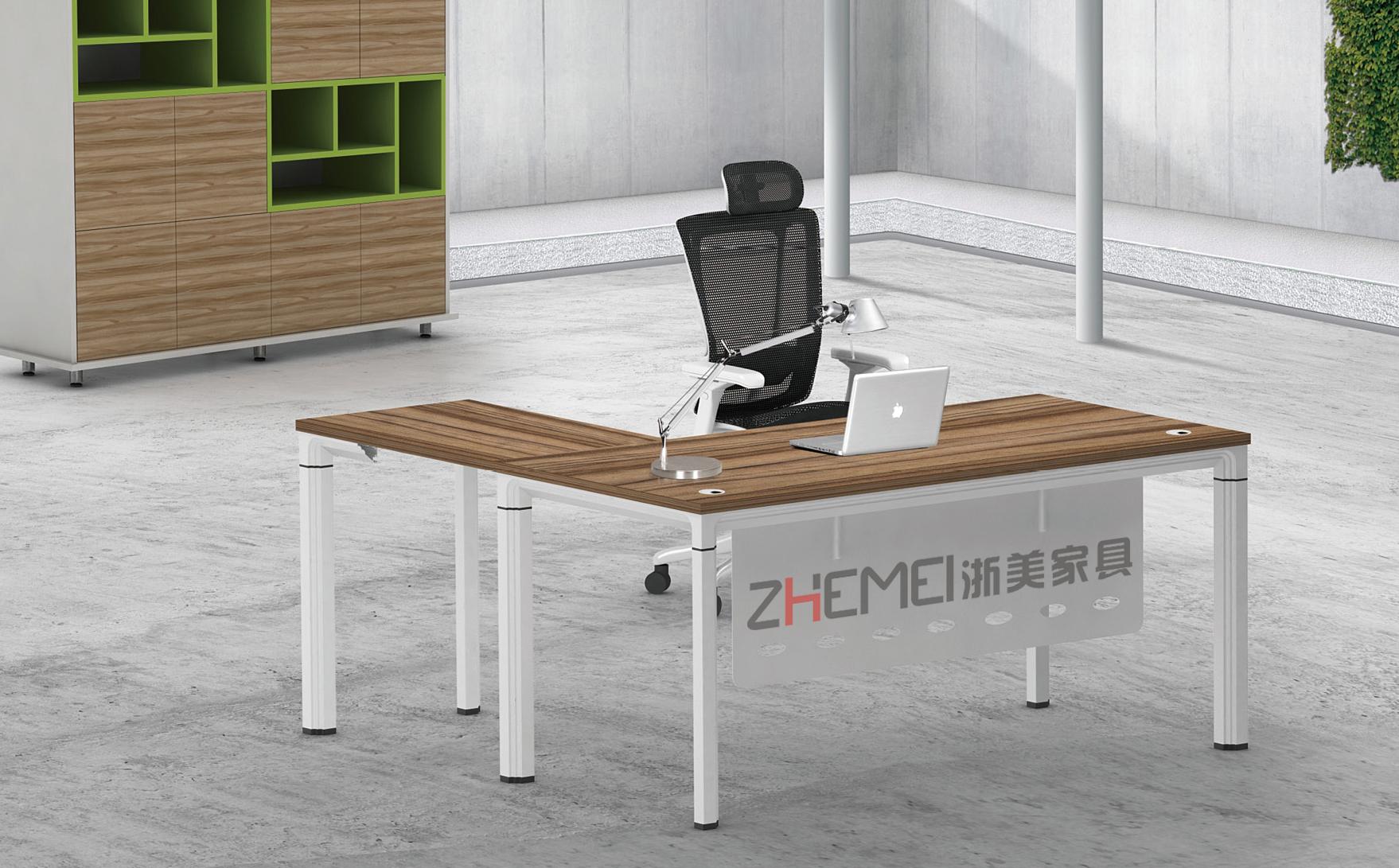 南京主管桌,办公室电脑桌,浙美家具,南京办公桌侧面产品展示图