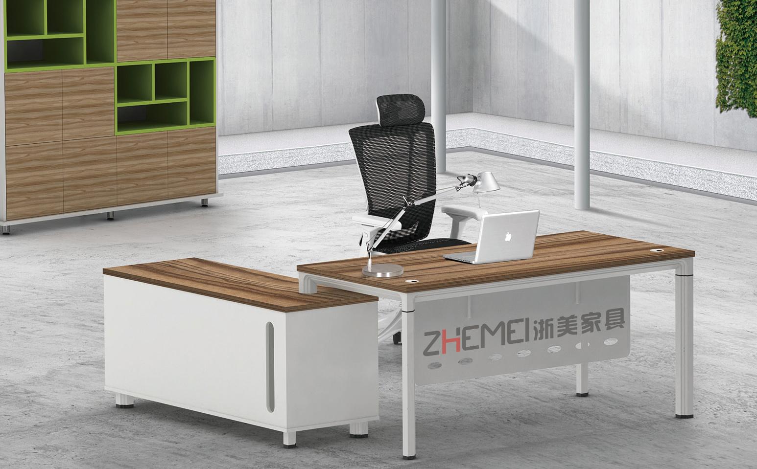 浙美主管桌,办公室电脑桌,办公家具,南京办公桌款式四侧面产品展示图