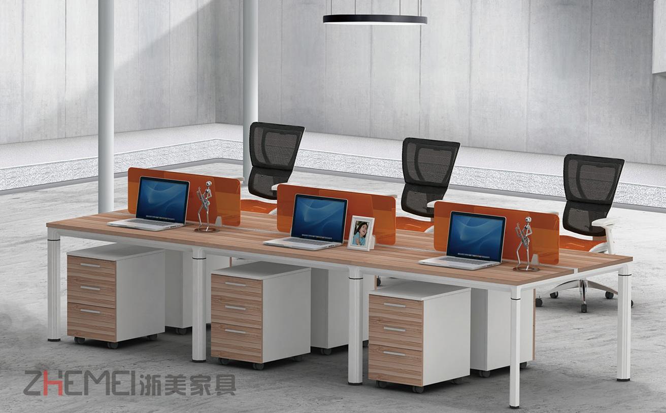 时尚自由 浙美办公室屏风搁板职员台,员工办公桌