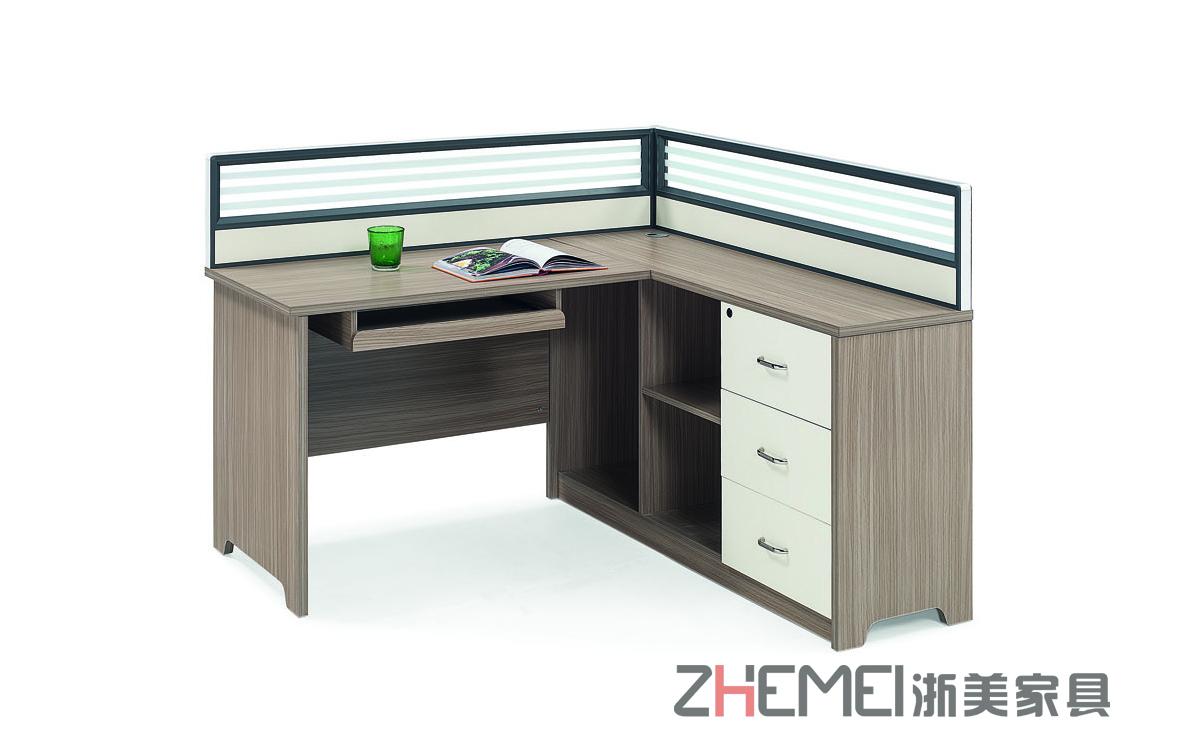 现代简约 浙美办公区挡板屏风职员台、员工电脑桌