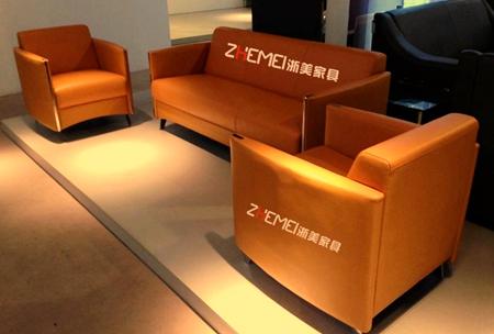 简约橙色办公沙发ZM002