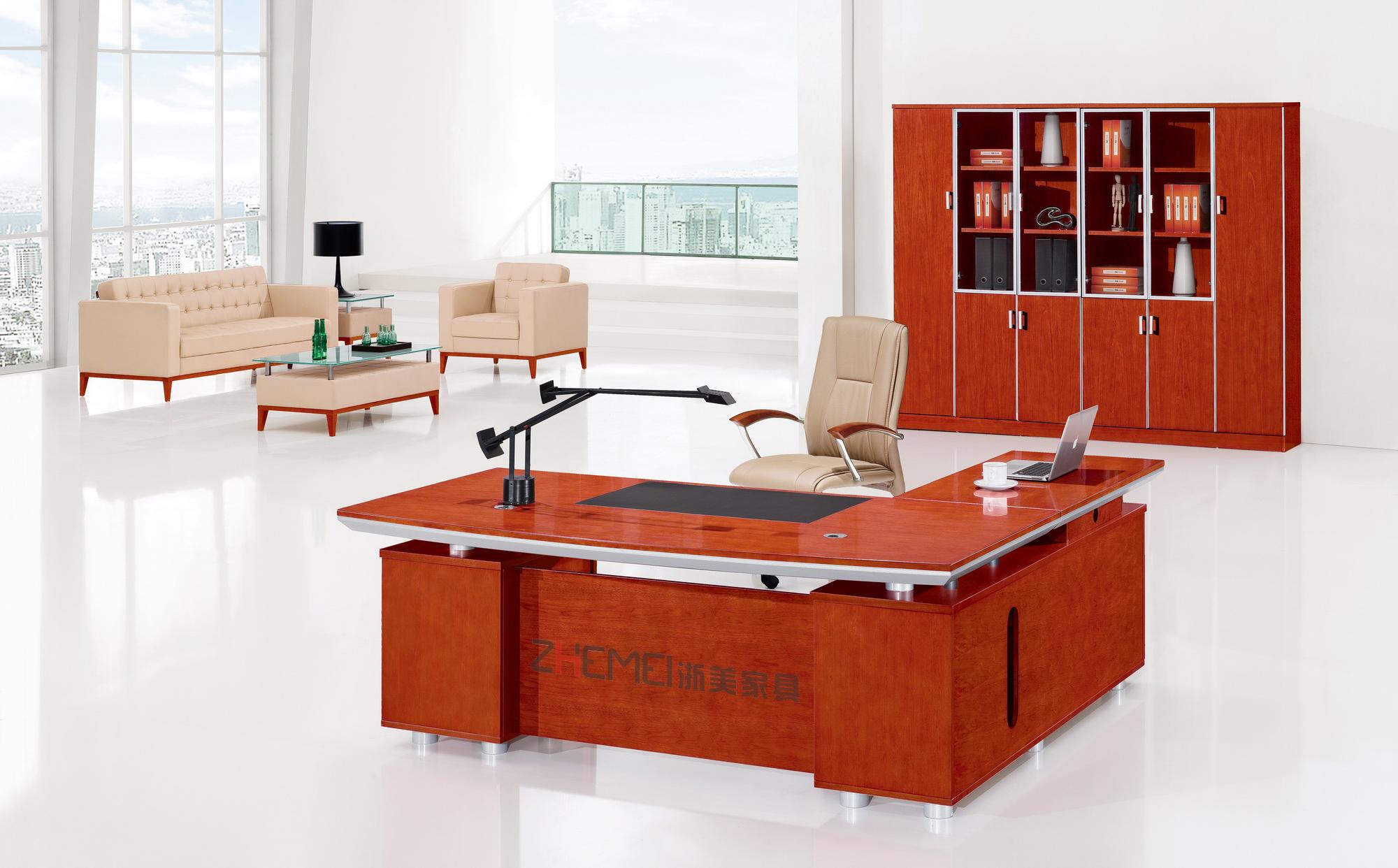 浙美时尚大气樱桃木办公室办公桌电脑桌
