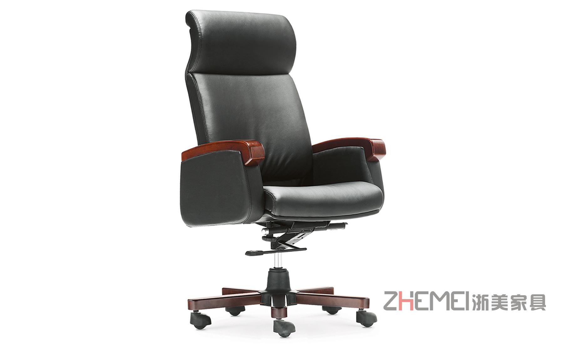 浙美现代简约办公家具公司企业时尚舒适经理大班椅WS-938