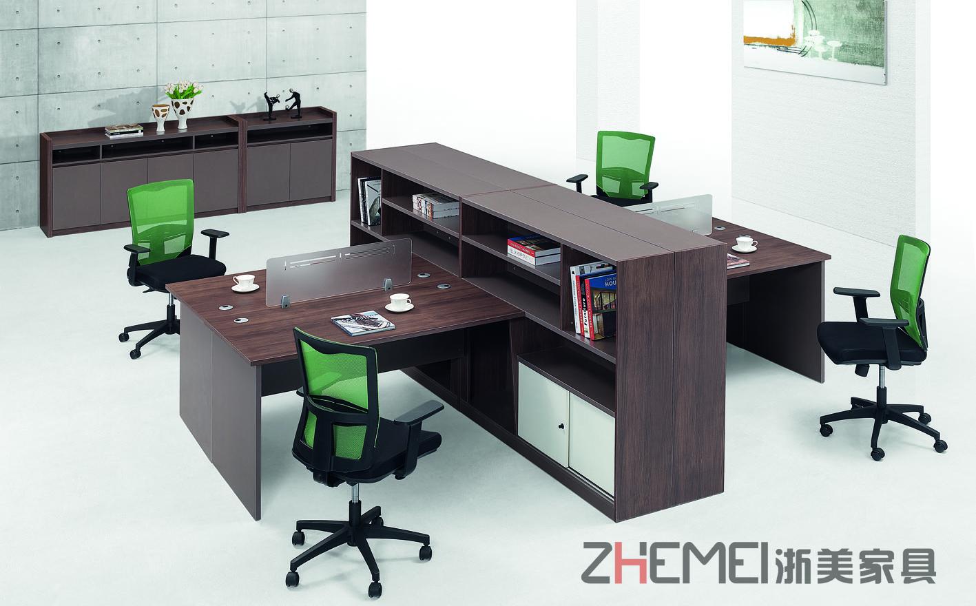 浙美时尚自由办公室新款职员桌屏风挡板办公桌卡座