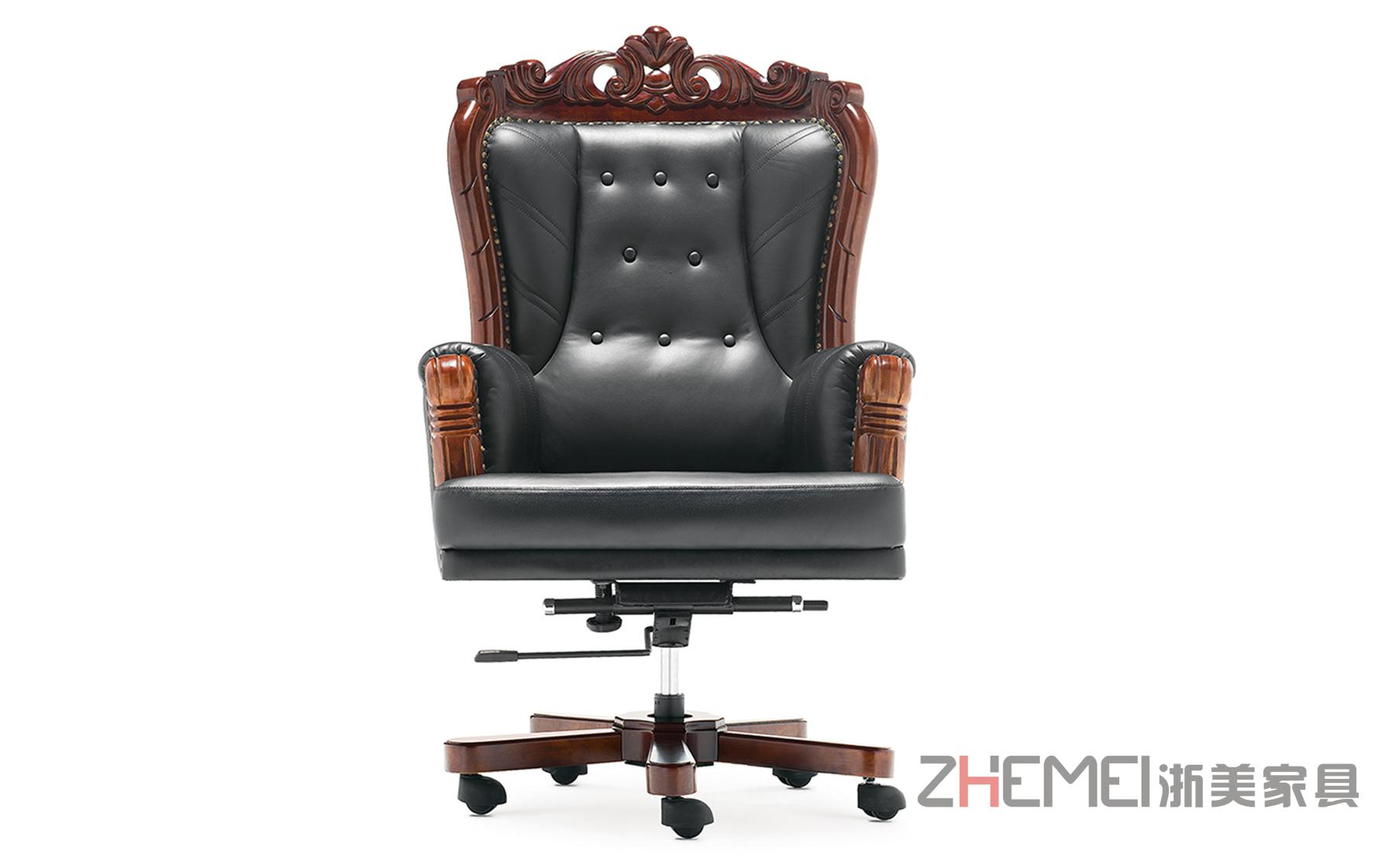 浙美中式传统奢华享受经理办公椅、老板椅