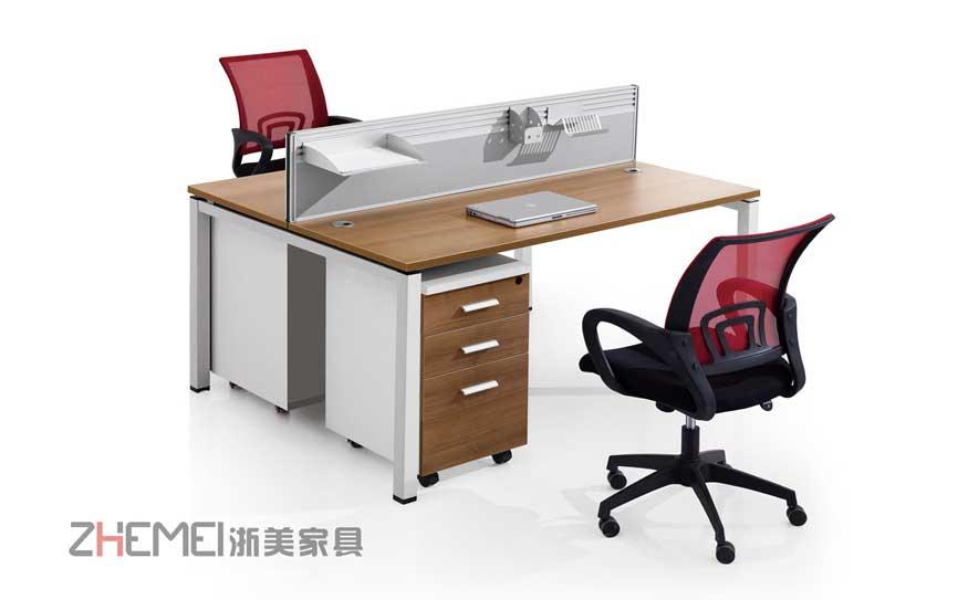 浙美时尚自由办公室职员电脑桌工作台