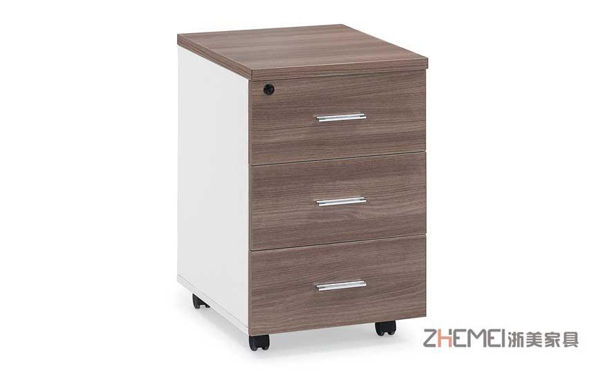 浙美现代简约办公家具文件柜活动储物矮柜