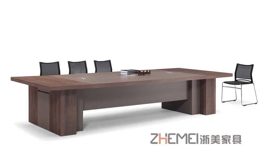 浙美现代办公家具会议桌长桌培训桌