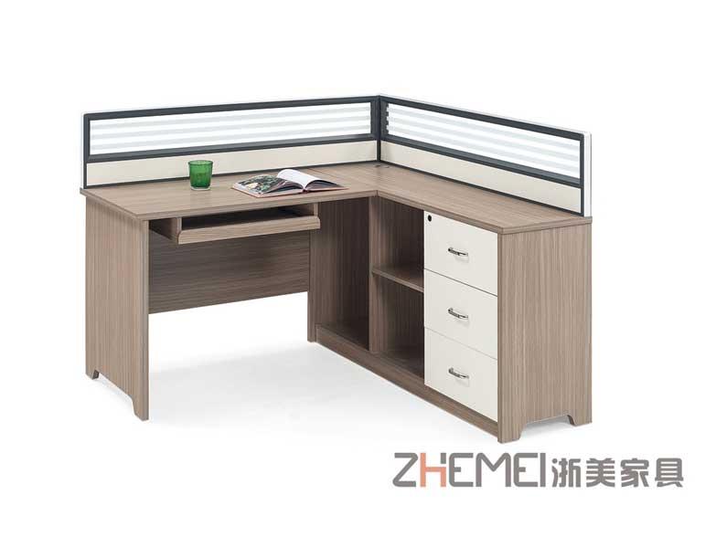 浙美办公家具现代简约职员办公桌屏风办公桌