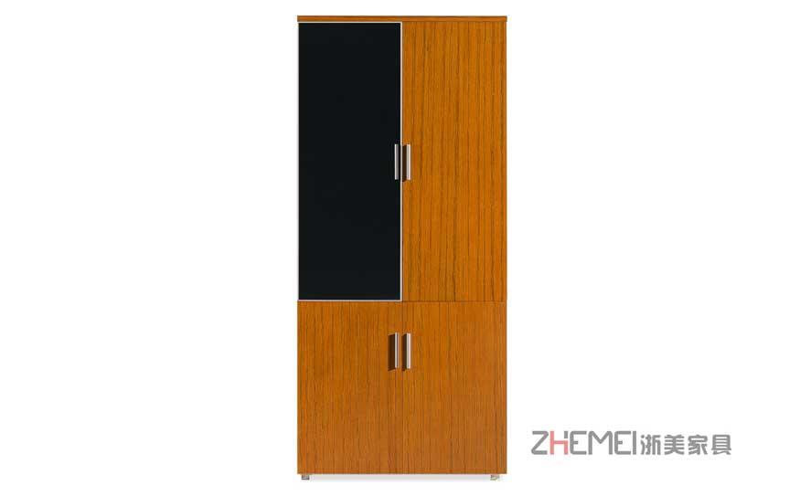 浙美中式经典金柚木办公室文件柜储物柜