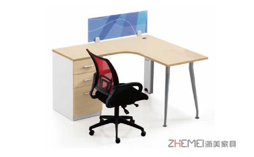 浙美17年新款简约随意组装职员办公桌电脑桌