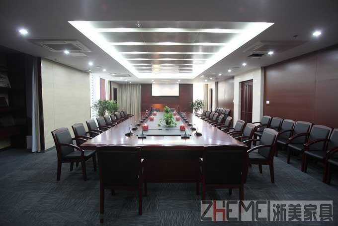 浙美办公家具会议长桌 会议桌椅组合简约 现代 条形桌洽谈开会桌